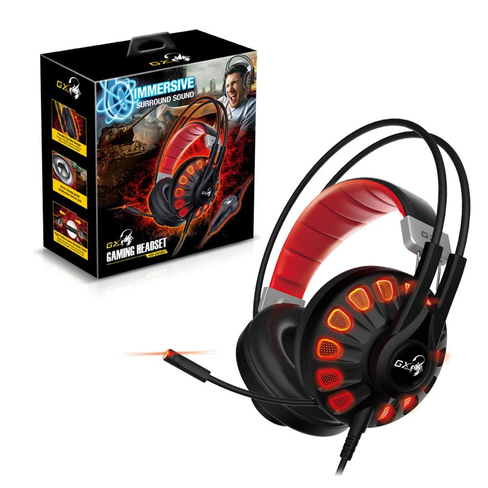 1be3f0cb774 Amazon.com: Genius Gaming Headset HS-G680 with 7.1 Channel Virtual Surround  Sound Engine, 50mm Large Tuned Driver, Noise Isolating Microphone, ...