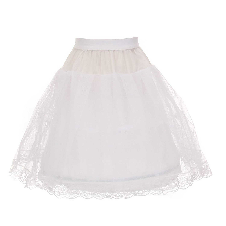 Kids Dream Little Girls White One Wire Hoop Half Length Petticoat Slip 4