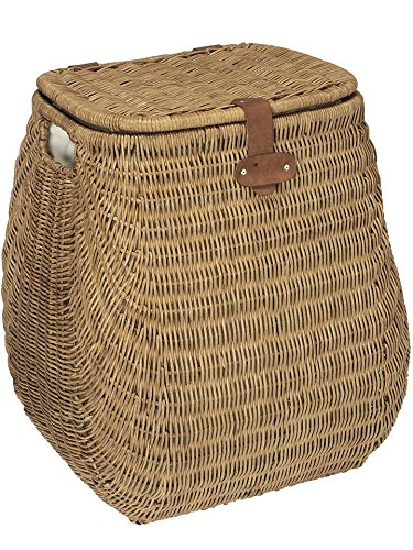KOUBOO Bulging Wicker 2 Load Capacity Laundry Hamper with Liner