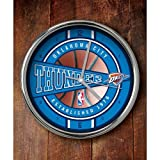 NBA Oklahoma City Thunder Official Chrome Clock, Multicolor, One Size