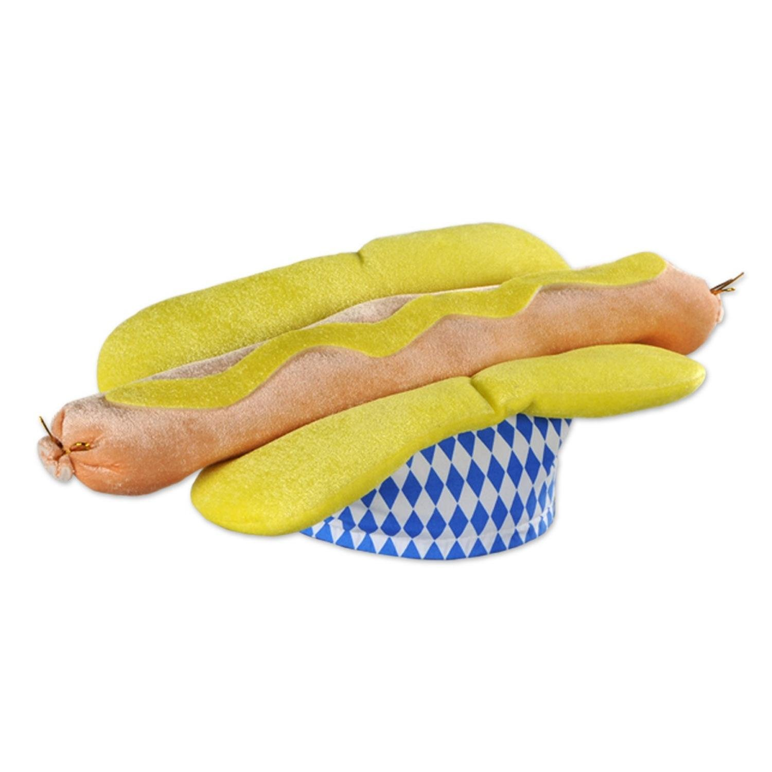 Club Pack of 12 Plush Bratwurst Party Favor Hats by Party Central