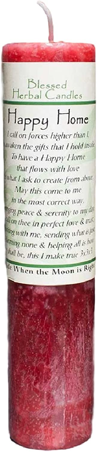 Ritual Magick Blessed Herbal Candle - Happy Home/Peace and Serenity
