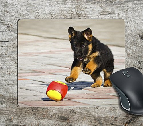 Matt 398 (Fun Cute Puppy Dog Play Computer Mousepad Mouse Pad Mouse Mat Matt Pad Anti-Slip)