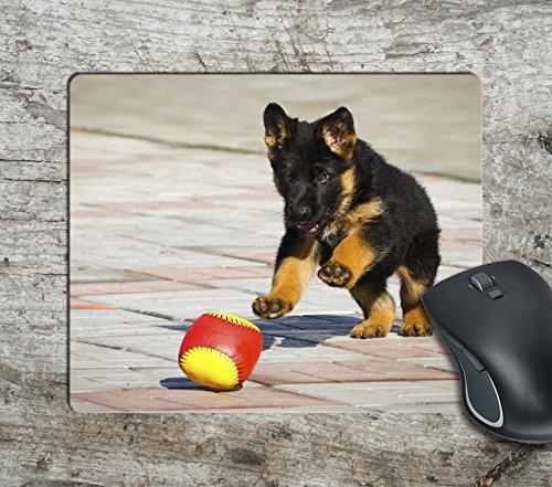398 Matt - Fun Cute Puppy Dog Play Computer Mousepad Mouse Pad Mouse Mat Matt Pad Anti-Slip