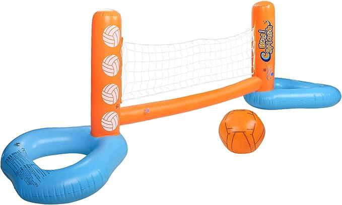HeySplash Juego Inflable del Voleibol de la Piscina, Juego al Aire ...