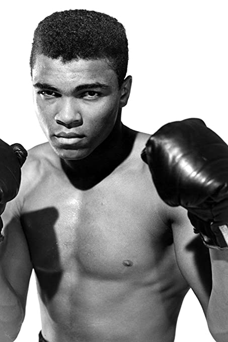 Muhammad ali black and white poster 20x30
