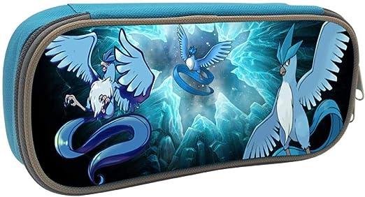 Pokemon Articuno Anime Student Papelería Bolsa Escolar Pen Bag Estuche para Niñas y Niños, azul, ONE_SIZE: Amazon.es: Amazon.es