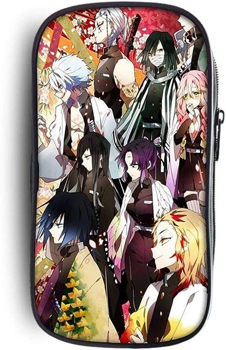 ZXJWZW Demon Slayer: Kimetsu no Yaiba Estuche de lápices Anime Gran Capacidad Cremallera Lápiz Bolsa Cartera Bolsa de papelería: Amazon.es: Deportes y aire libre