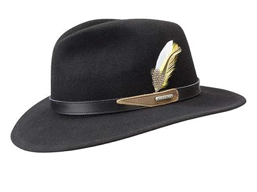 24bf29285dfaab Stetson Hampton Wool Vitafelt Fedora Hat at Amazon Men's Clothing store: