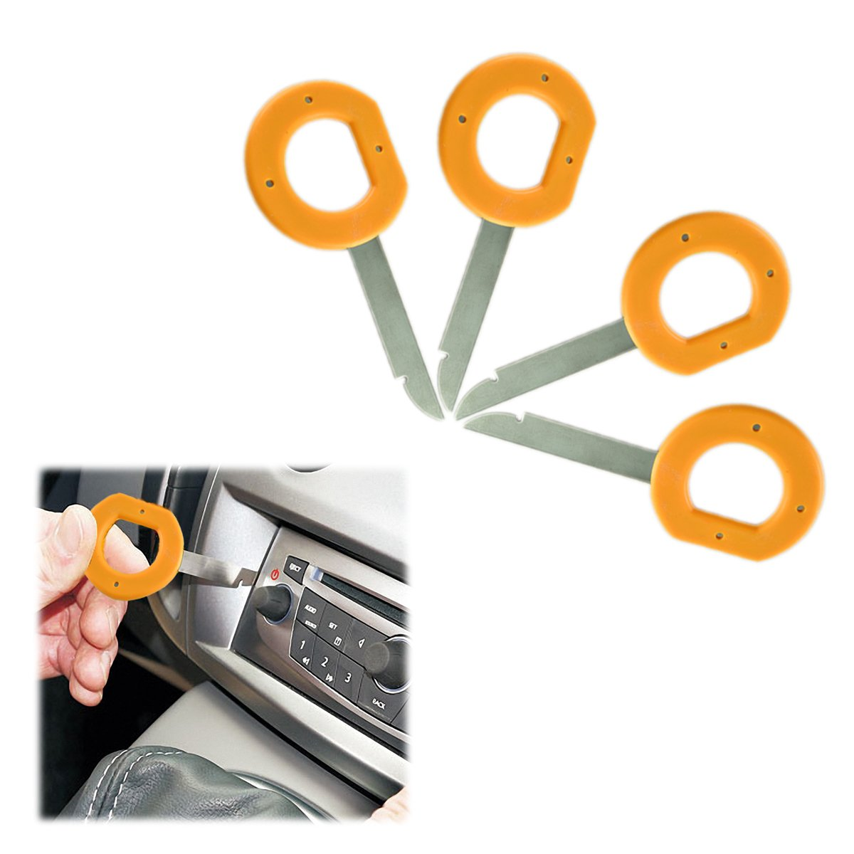 Ansblue Car Radio Removal Key Toolmass Audi Audio Scosche Wiring Harness Vw Disassembly Tool Cd Dvd Host 4pcs Yellow Silver