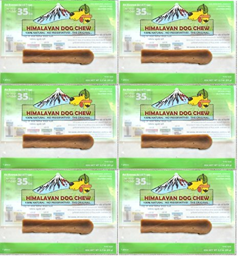 FRESH HIMALAYAN DOG CHEW MEDIUM UNDER 35 POUNDS HEALTHY NATURAL LONG LASTING TREAT 6 Pack