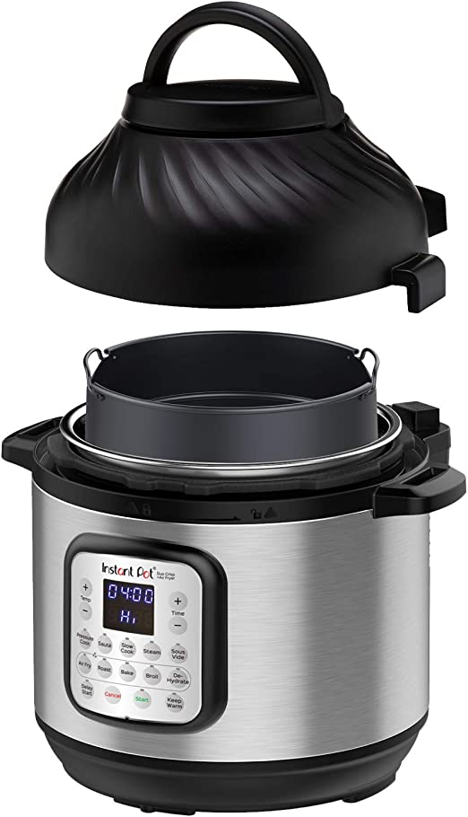 Instant Pot with air fryer lid
