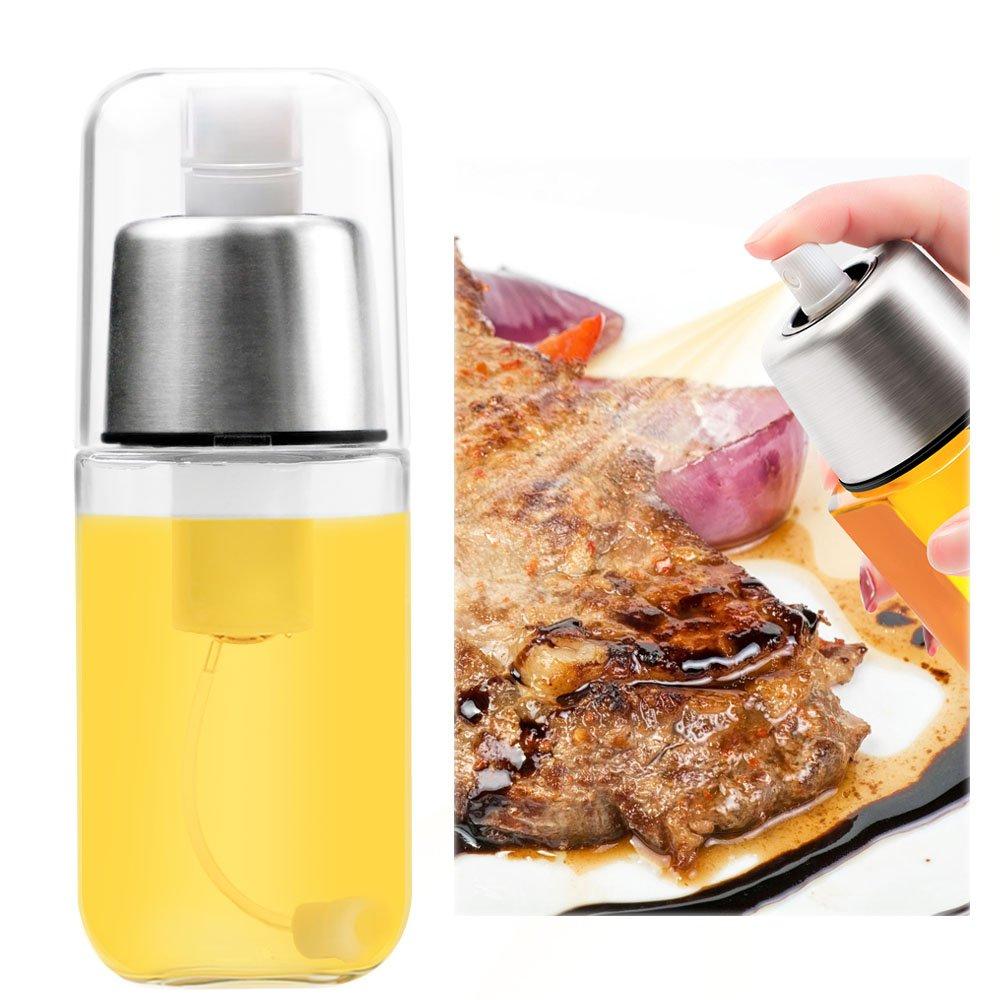 Olive Oil Sprayer, TedGem Refillable Oil Sprayer Stainless Steel Oil Vinegar Dispenser Bottle Olive Oil Mister Sprayer FDA Approved, for BBQ, Cooking, Baking, Roasting, Grilling, Making Salad, Frying