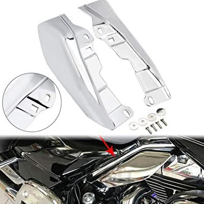 PBYMT Chrome Mid Frame Air Heat Deflectors Compatible for Harley Touring Street Glide Electra Glide Road King 2009-2016: Automotive