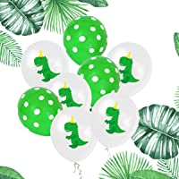 LELE 10PCS Dinosaur Latex Balloons Dino Baby Shower Birthday Party Decorations