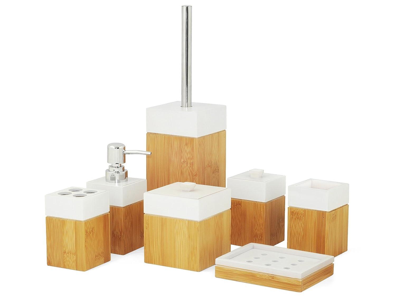 Bad accessoires bambus  MK Bamboo PARIS - Bambus Bad Accessoire Set: Amazon.de: Elektronik
