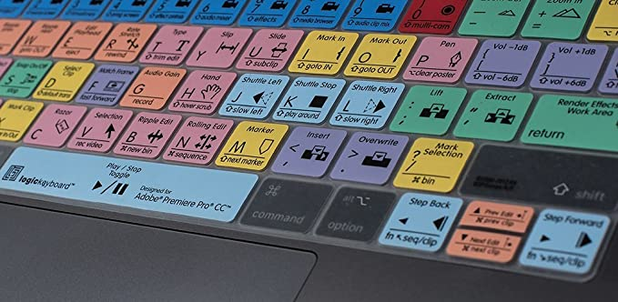 LogicKeyboard Skin designed for Adobe Premiere Pro CC compatible with MacBook Pro Touch Bar part LS-PPROCC-MBP16-US