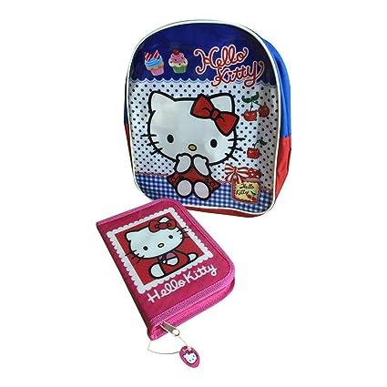 Hello Kitty bolsa Mini mochila bolsas mochila y estuche escolar