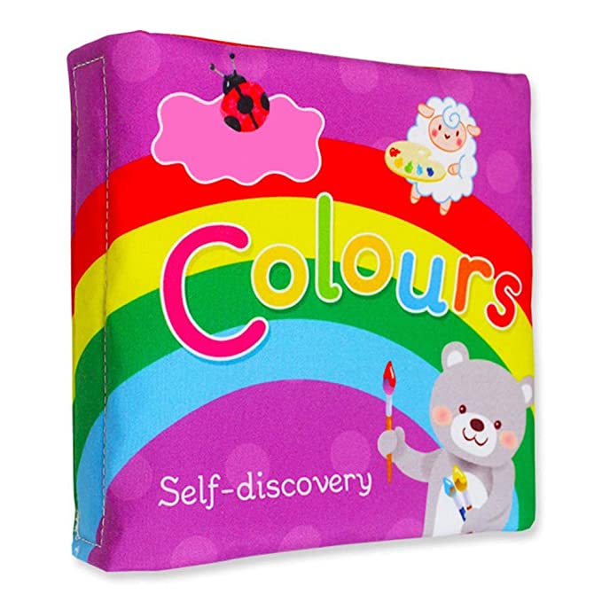 Scrox 1x Libros de Tela para Bebes Gracioso Libros Blandos Juguete Interactivo Libro Educativo Bebe 0-1-3 años Inglés Regalos para Bebes (Colorear): ...