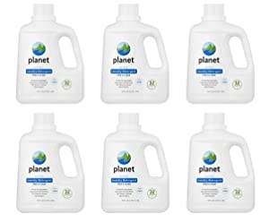 Planet Ultra Liquid Laundry Detergent - 100 oz - Free & Clear - 32 loads (Pack of 6)