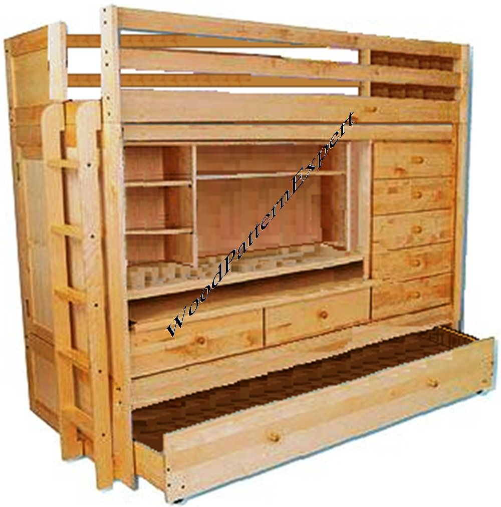 pdf natural loft driftwood bed in and desk with l view drawers plans high larger kid bunk knockout beds