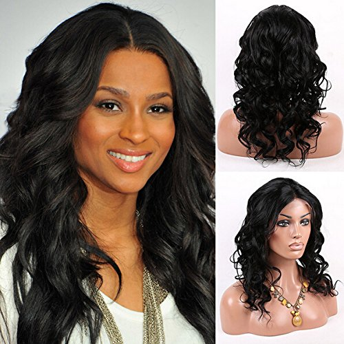 low-cost Top Quality 12   Virgin Brazilian Full Lace Wigs Body Wave Human 9bc9ece81117