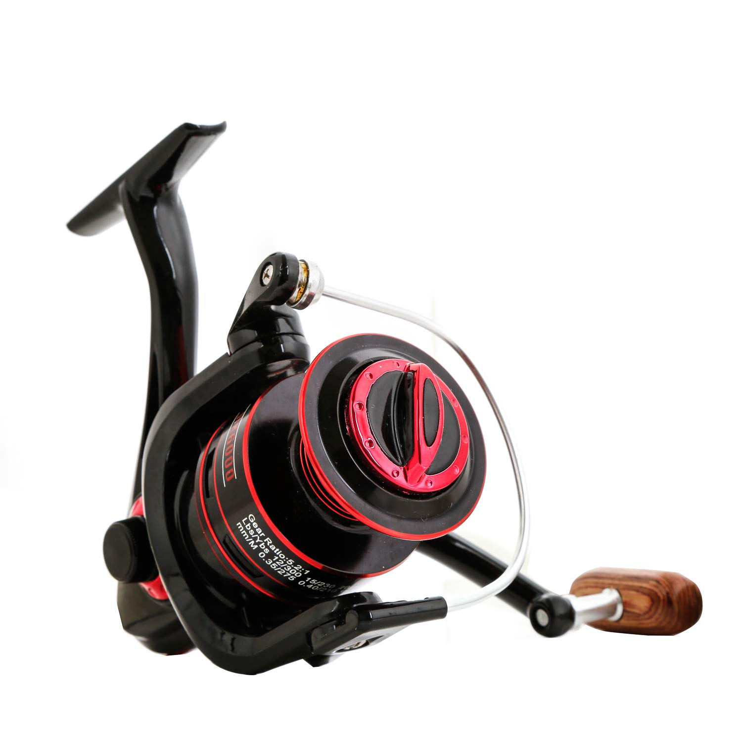 LurEra All-Purpose Spinning Reel 5.2 1 Gear Ratio 12 1 Corrosion Resistant Bearings Ultra Smooth Saltwater Rated Spin Fishing Reel Available in Sizes 4000, 6000