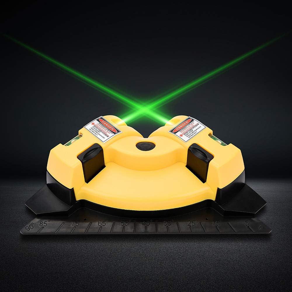 Medidor de nivel l/áser cuadrado de 90 grados con nivel l/áser mini horizontal y vertical con proyecci/ón l/áser con dos ventosas