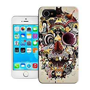 TYH - Unique Phone Case Skeleton skull head arts map Trippy Digital Collages Hard Cover for iPhone 6 4.7 cases-buythecase ending phone case