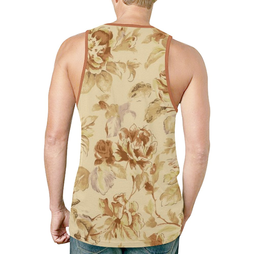Floral Design TPTEM001 Tank Top Casual Shirts Mens Sleeveless Vest