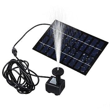 Pawaca solaire Pompe de fontaine, 1.8 W Énergie solaire Pompe à eau ...