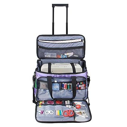 b332e463be Luxja Sewing Machine Trolley Bag