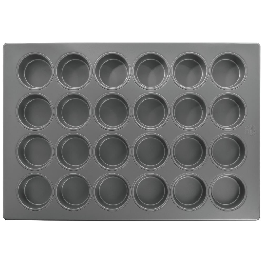 HUBERT 24 Cup Jumbo Muffin Pan With Silicone Glaze Aluminized Steel - 25 7/8 L x 17 7/8 W x 1 1/2 D