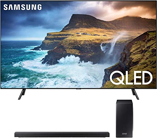 Samsung QN55Q70RA 55 Q70 QLED Smart 4K UHD TV 2019 Model with 30W 3.1.2-Channel Soundbar System with Wireless Subwoofer – HW-Q70R