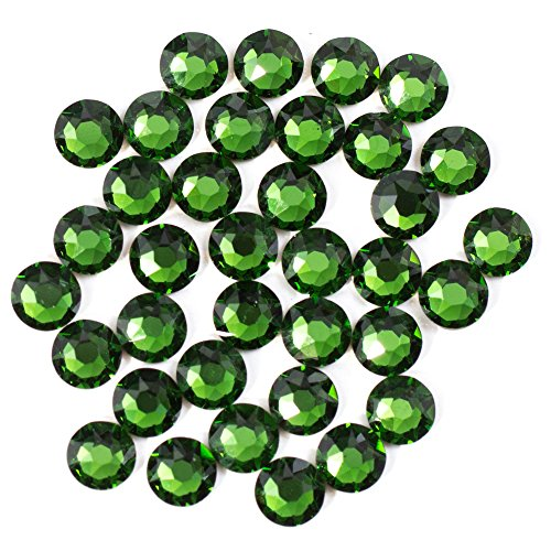 Swarovski - Create Your Style Hotfix 3mm Fern Green 3 packages of 38 Piece (114 Total Crystals) (Green Swarovski Glass)