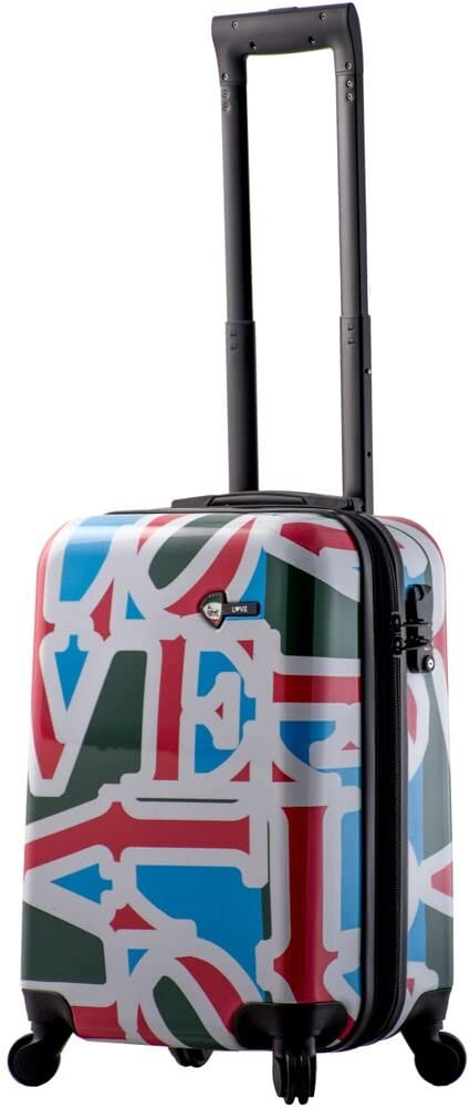 Love Collection Green Mia Toro Hard Side Spinner Luggage Carry-On LCG
