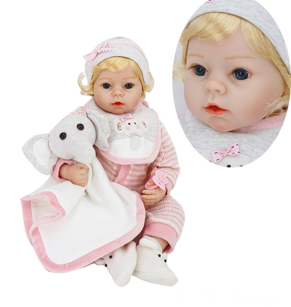 Barato Pursue Baby Abigail - Muñeca Niña Bebe Realista Peso Agregado, Piel de Vinilo RealTouch 22 Pulgadas