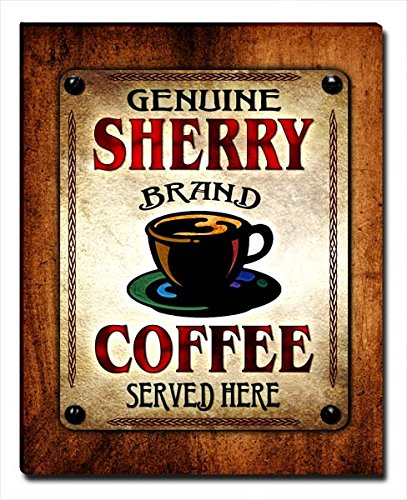 Sherry Wood Finish - ZuWEE Sherry's Coffee Family Name Gallery Wrapped Canvas Print