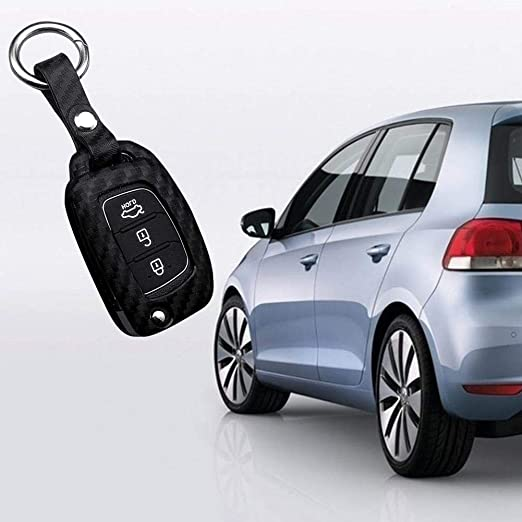 Amazon.com: Assiduousic Car Silicone Key Case Carbon Fiber ...
