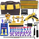 AI 92pcs Car Body Paintless Dent Repair Removal Tools, Auto Dent Puller Kit Automotive Door Ding Dent Silde Hammer Glue Puller Repair Starter Set Kits For Car Hail Damage And Door Dings Repair