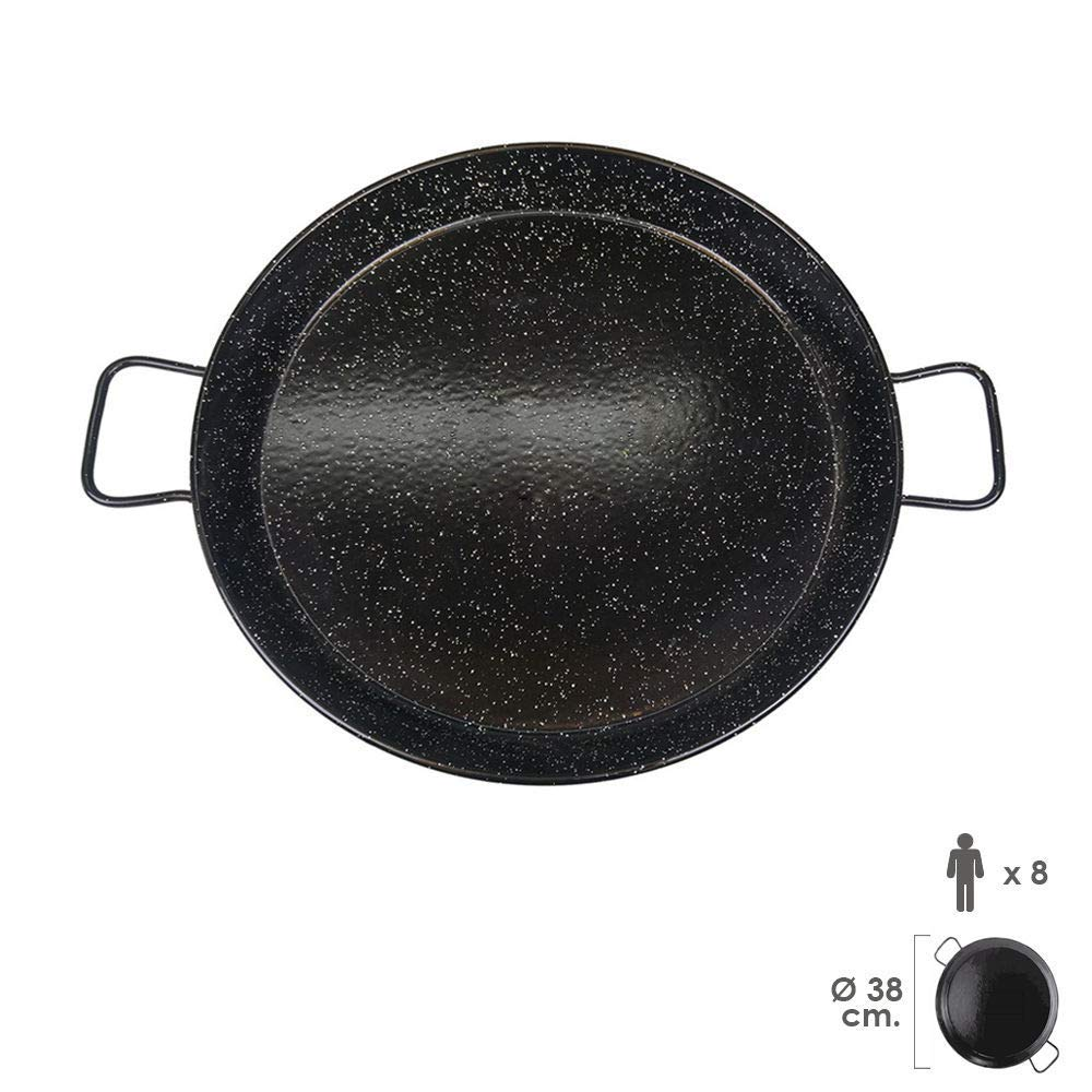 Amazon.com: Garcima Acero Esmaltado Paella Pan (38 cm): Home ...