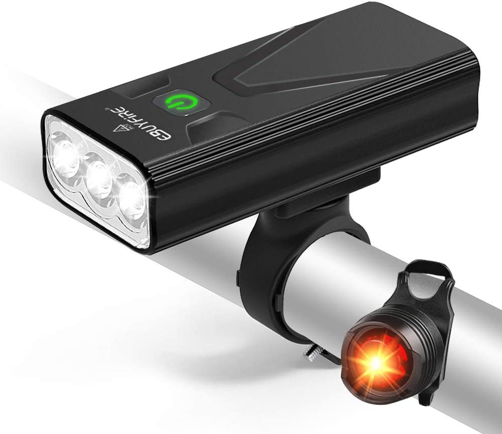 luz delantera de bicicleta con sirena de sonido de 5 modos 3 modos de iluminaci/ón Benkeg Luz Bicicleta Recargable USB Linterna Bicicleta Impermeable con Luz Bicicleta Delantera y Campana