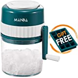 MANBA Ice Shaver and Snow Cone Machine - Premium Portable Ice Crusher and Shaved Ice Machine with Free Ice Cube Trays - BPA Free
