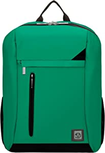 Compact Design Backpack Briefcase Laptop Bag for Dell Latitude, Inspiron 15, XPS, Alienware, Vostro 15, ASUS ZenBook, Pro, ROG Series up to 15.6 inch Vertical Green