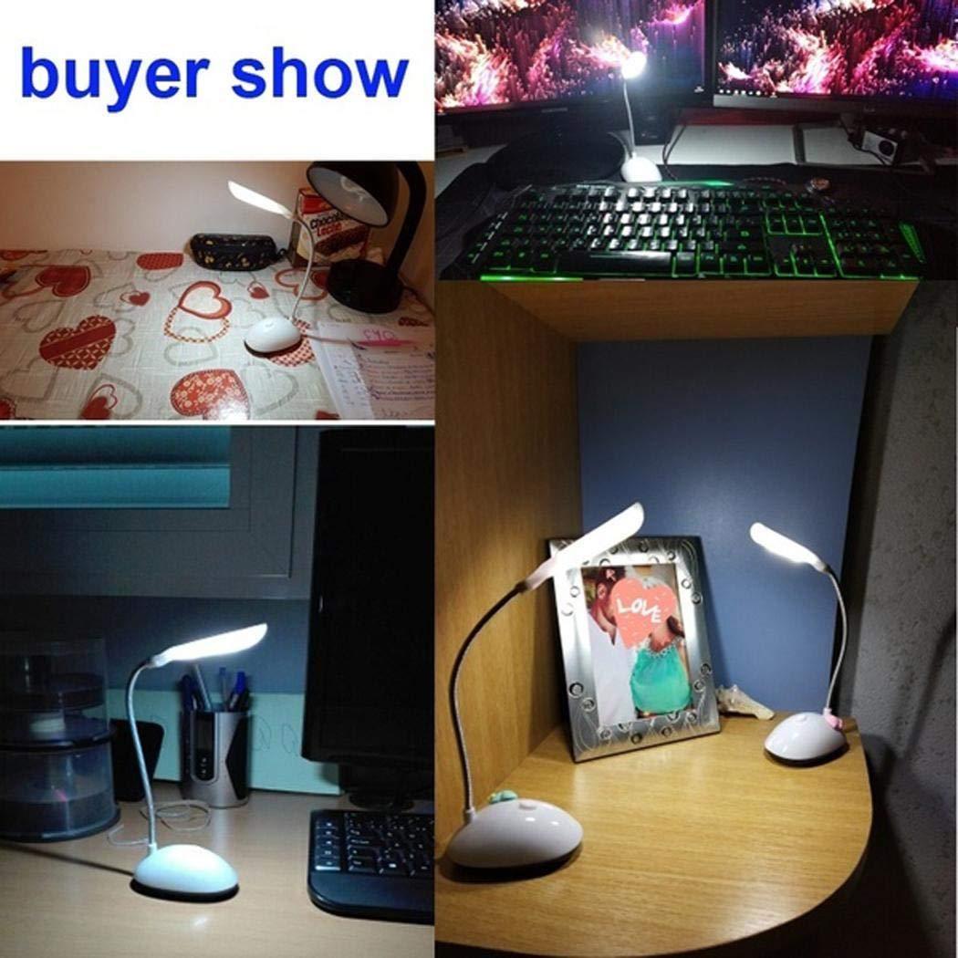 Zimrio LED Lámpara de Escritorio Estudiante Plegable Protección para los Ojos Lámparas de Mesa Batería Luz Nocturna Lámparas de Escritorio