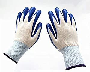 12 Pairs Pack Nitrile Gloves | Gardening Gloves | Work Gloves | Comfort Flex Coated | Breathable Nylon Shells | Nitrile Coating | Mechanics | Working in The Garden | You Get 1 Dozen Pairs of Gloves