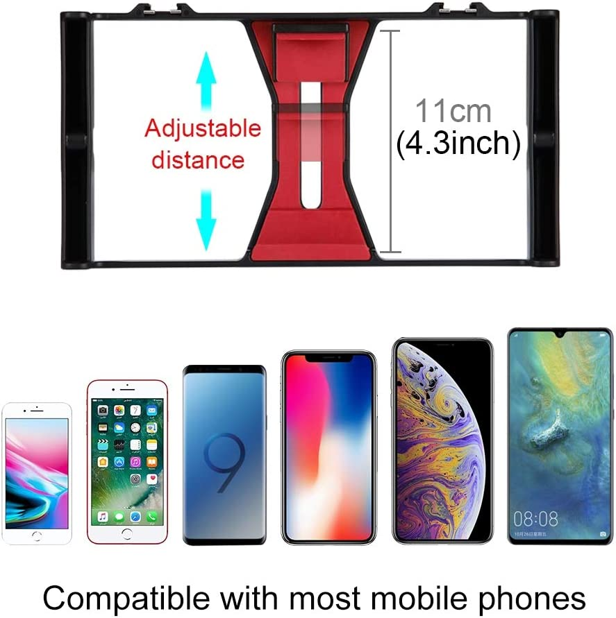 Huawei Color : Red Google and Other Smartphones Durable LG Xiaomi Galaxy CAOMING Vlogging Live Broadcast Smartphone Video Rig Filmmaking Recording Handle Stabilizer Bracket for iPhone HTC