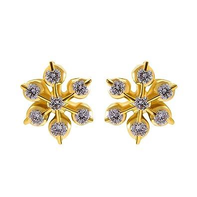 c5469558b39ae Buy Joyalukkas 22k Yellow Gold and Diamond Stud Earrings Online at ...