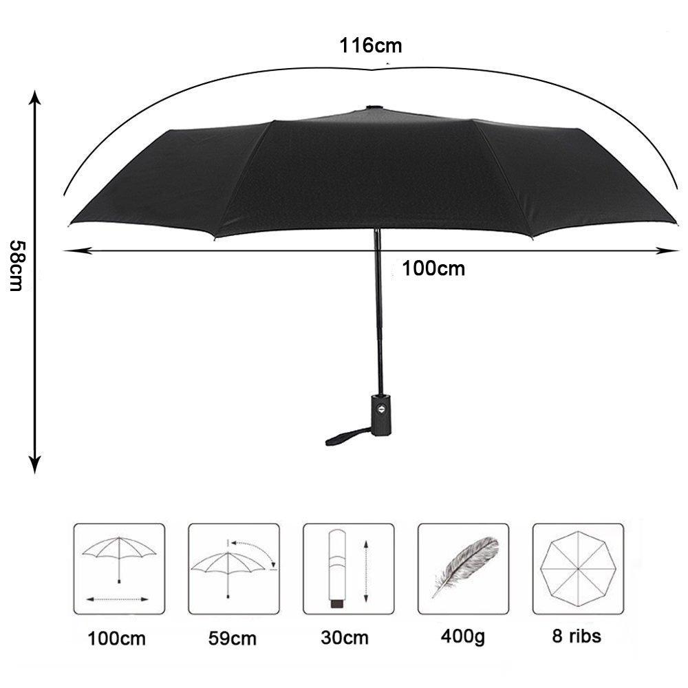 Paraguas, parasol, cortavientos de Kapoo con apertura/cierre automático para una sola mano.