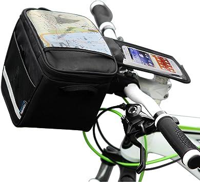 Roswheel - Alforja Delantera para Bicicleta, Color Negro: Amazon ...